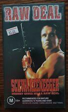 VHS TAPE - RAW DEAL RARE SCHWARZENEGGER FILM NEW CONDITION