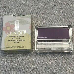 New In Box Clinique All About Shadow Soft Matte CJ Purple Pumps 0.07oz. 2.2g