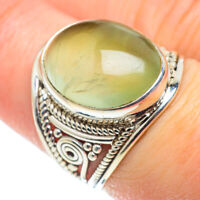 Prehnite 925 Sterling Silver Ring Size 7.5 Ana Co Jewelry R52062F