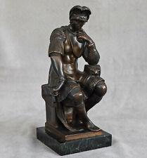 D'après MICHEL-ANGE (1475-1564) Laurent de Médicis Bronze par FADY CAJANI 1899