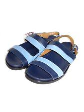 ZARA MAN Blue Leather Slip–On Gladiator Sandals Style SZ 40 - 7 US NEW