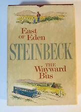 East Of Eden & The Wayward Bus by John Steinbeck Hardcover w/DJ Bookclub Edition