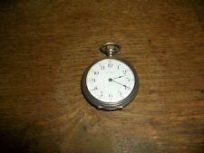 WALTHAM MODEL 1890 STERLING SILVER CASE 6S POCKET WATCH RUNNING
