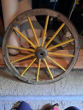 Ruota Per Carro Antica in legno e ferro perfetta!!!