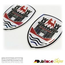 PAIR of Wolfsburg Edition Badges VW Golf, Polo, Scirocco, Transporter, GTI R32