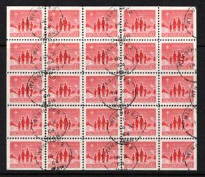 Canada #434a Used M/S CV$15.00 1964 Star Christmas
