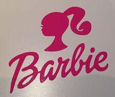 Rosa Adesivo decalcomania in vinile Barbie