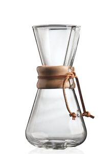 Chemex 3-Cup Classic Series Glass Coffeemaker (CM-1C)