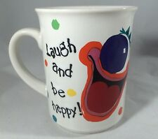 Laugh And Be Happy Clown Coffee Mug By Arline George Good Japan VTG Colorful