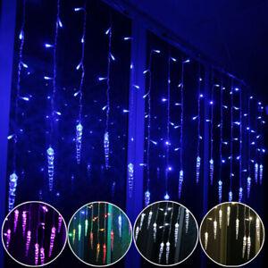 Icicle LED Curtain Fairy String Lights Christmas Outdoor Garden Xmas Party Decor