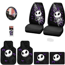 8PC JACK SKELLINGTON NIGHTMARE BEFORE CHRISTMAS CAR SEAT COVER SET FOR JEEP