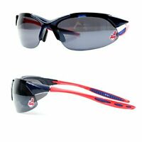 Cleveland Indians MLB Blade Rimless Sunglasses Chief Wahoo Logo UV Protection