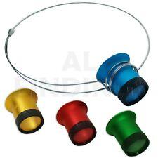 Jewellers Eyeglass Loupe Headband Set 4 Loupe Magnifying glass Gold Silver Check