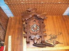 Vintage HENRY COEHLER REGULA HECO 1 DAY Black Forest Cuckoo Clock - Germany