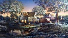 "Terry Redlin ""His First Friend"" Signed and Numbered Print 32"" x18.5"""