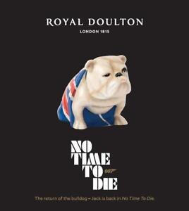 Royal Doulton Jack The Bulldog 007 James Bond No Time To Die 2020 - IN STOCK