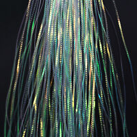Hank  TURQUOISE HOT CHARTREUSE  Shimmering Lights Flash Fly Tying /& SALTWATER
