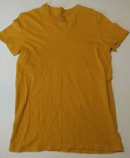 American Eagle Mustard Yellow Athletic Fit V-neck Shirt Mens S