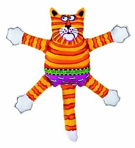 Fat Cat Terrible Nasty Scaries Mini | Assorted Colors Squeaker Dog Toy  - 2 Pack
