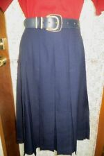 Knee-Length Wool Pleated Skirts for Women