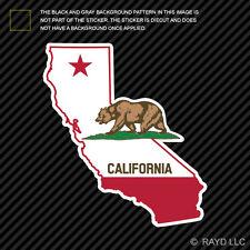 California Flag State Shaped Sticker Die Cut Decal republic CA california native