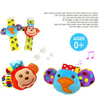 4PCS Baby Wrist Rattle and Foot Rattles Finder Socks Set Animal Rattles Baby Toy