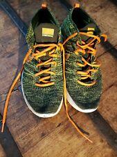 Nike Lunar Flyknit Chukka Mens sz. 11.5 Lunarlon Volt Green Orange