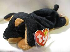 TY Beanie Babies Original  DOBY The Doberman Pincher Dog 1996 w/ 5 Errors P.V.C.