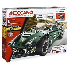 Meccano 5-in-1 Model Set - Roadster Cabriolet with Pull Back Motor Age 8+