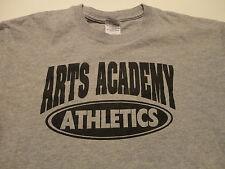 ARTS ACADEMY Athletics School Gym T-Shirt Gray FREE Shipping size Medium