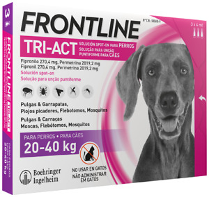 Frontline Tri-Act 20-40 kg Dog Pipettes 6x Pipettes SIX MONTHS PROTECTION* PLUS