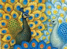 PEACOCK PARADISE needlepoint tapestry COTTON KIT 80 X 60 CM  SALE PRICE! WOW!