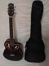 6 String Acoustic Electric Guitar, Round Back, Black, Free Gig Bag New