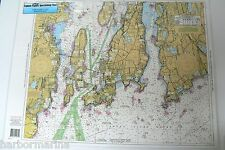 "Sportfishing Chart Narragansett Bay Rhode Island LAMINATED #NB104 19"" x 26"""