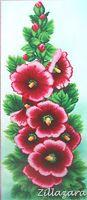 Vintage Rosen Perlenstickbild Stickbild Stickpackung Perlen Preciosa 487