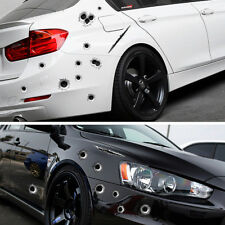 3D Car Stickers Fake Bullet Hole Car Decals Motorcycle Scratch Funny Creative