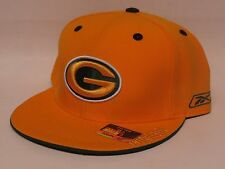 GREEN BAY PACKERS Fitted Flat Bill NFL Cap/Hat - Yellow - Reebok