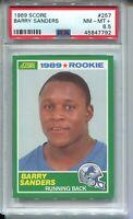 1989 Score Football #257 Barry Sanders Rookie Card RC Graded PSA Nm Mint+ 8.5