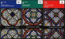 Kanada Canada 2011 Kirchenfenster Weihnachten Glasmalerei 2771-73 MH + FB MNH