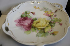 Antique Hand Painted Glazed Meat Platter by R.W. (Bavaria) Detail Design Rare