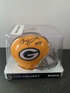 "Green Bay Packers Paul Hornung ""HOF 1986"" NFL Signed Mini Helmet LEAF COA"