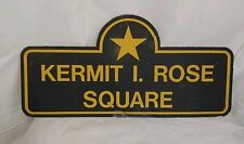 Boston MA Decommisioned Street Sign Kermit I. Rose Square WW2 Purple Heart LOOK!