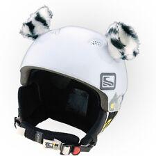 Tigerohren Weiß Helmohren für Skihelm Ohren Helmet Ears Helm weißer Tiger Ski