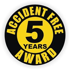 Accident Free 5 Years Hard Hat Decal / Helmet Sticker Label Safety Award