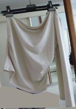 pull-top beige lycra 1x manche longue autre épaule nue-Jennifer 40