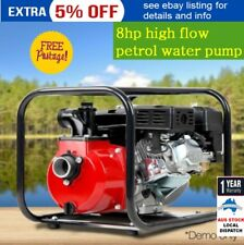 """2"""" High Pressure Flow Petrol Water Pump Irrigation Fire Fighter 8HP with Fitting"""