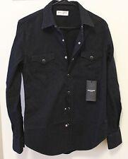 Saint Laurent Paris Rinsed Denim Western Shirt Size Small Brand New