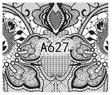 Nail Art Decals Transfers Stickers Lace Pattern (A-627)