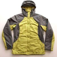 Columbia Omni Tech Womens Sz S Small Full Zip Hooded Jacket Green Yellow