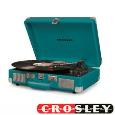 NEW Crosley Cruiser Deluxe 3 Speed Turntable With Bluetooth - Teal